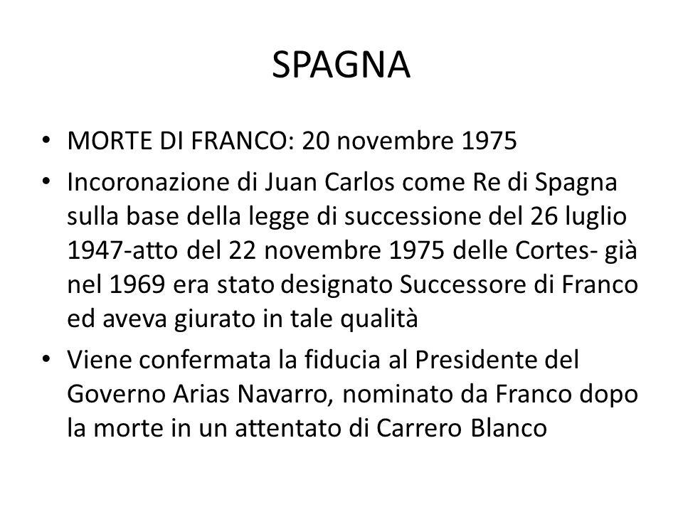 SPAGNA MORTE DI FRANCO: 20 novembre 1975