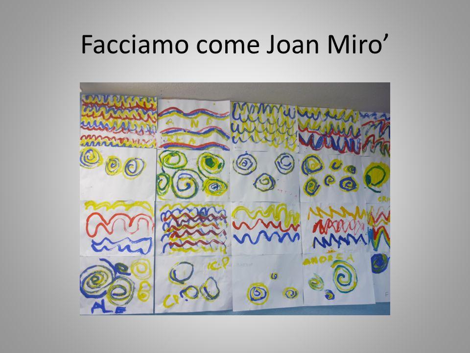 Facciamo come Joan Miro'