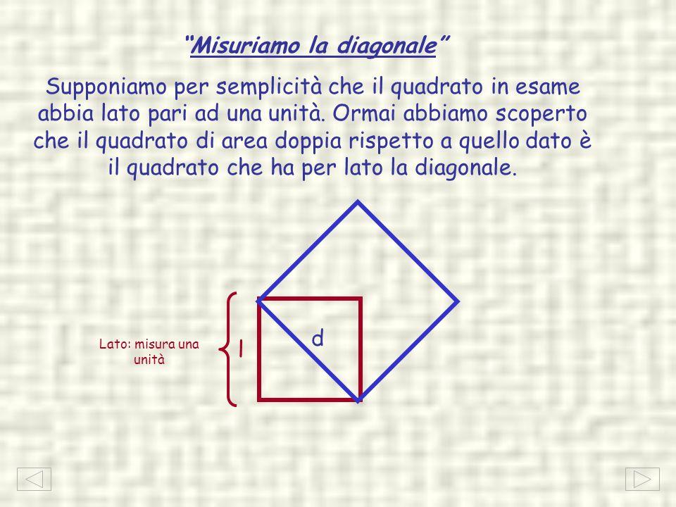 Misuriamo la diagonale