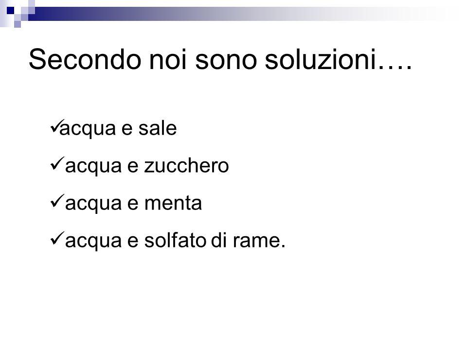 Secondo noi sono soluzioni….