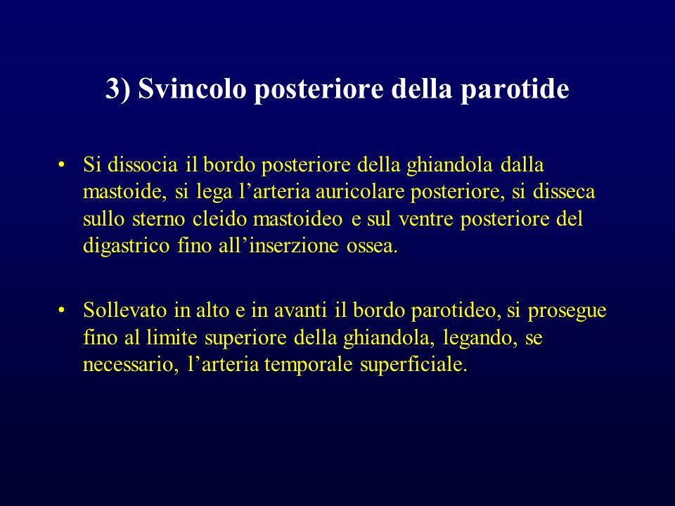 3) Svincolo posteriore della parotide