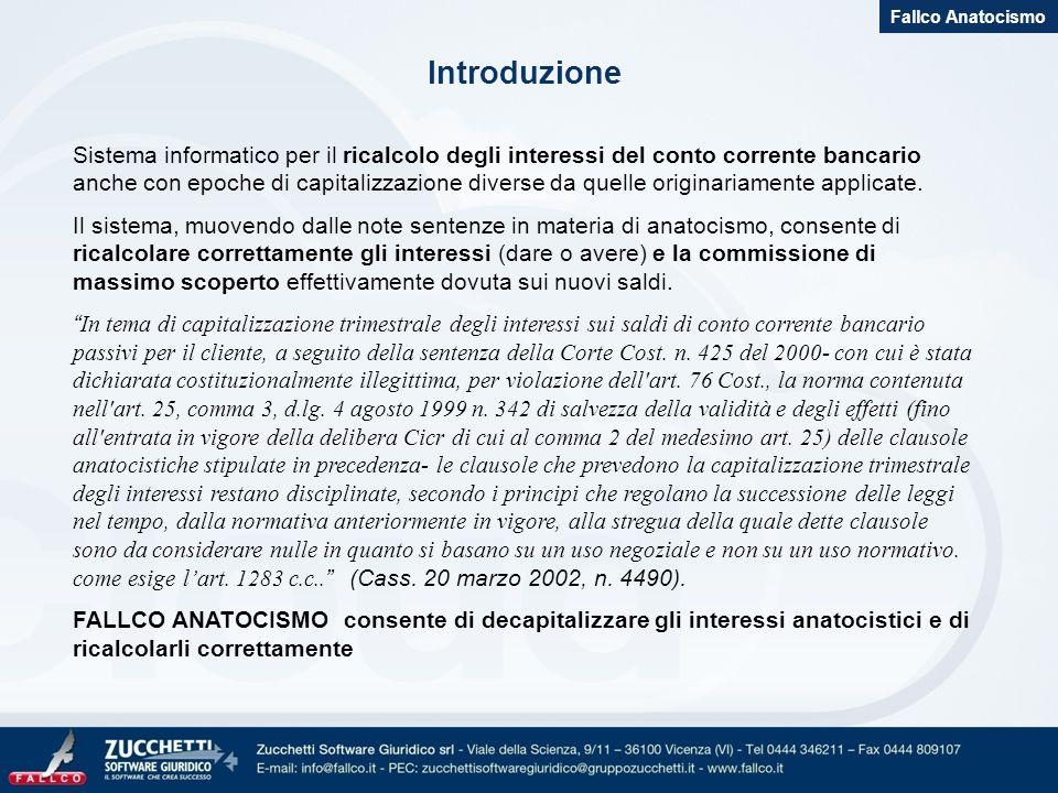 Fallco Anatocismo Introduzione.