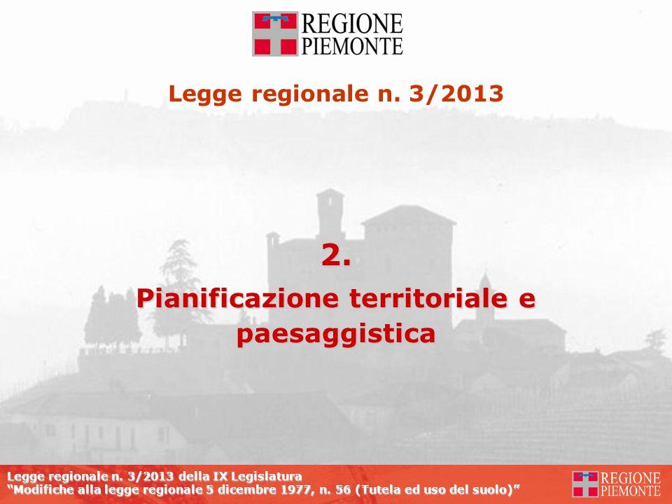 Pianificazione territoriale e paesaggistica