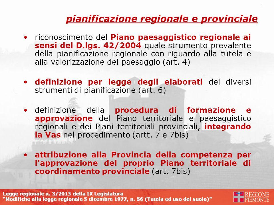 pianificazione regionale e provinciale
