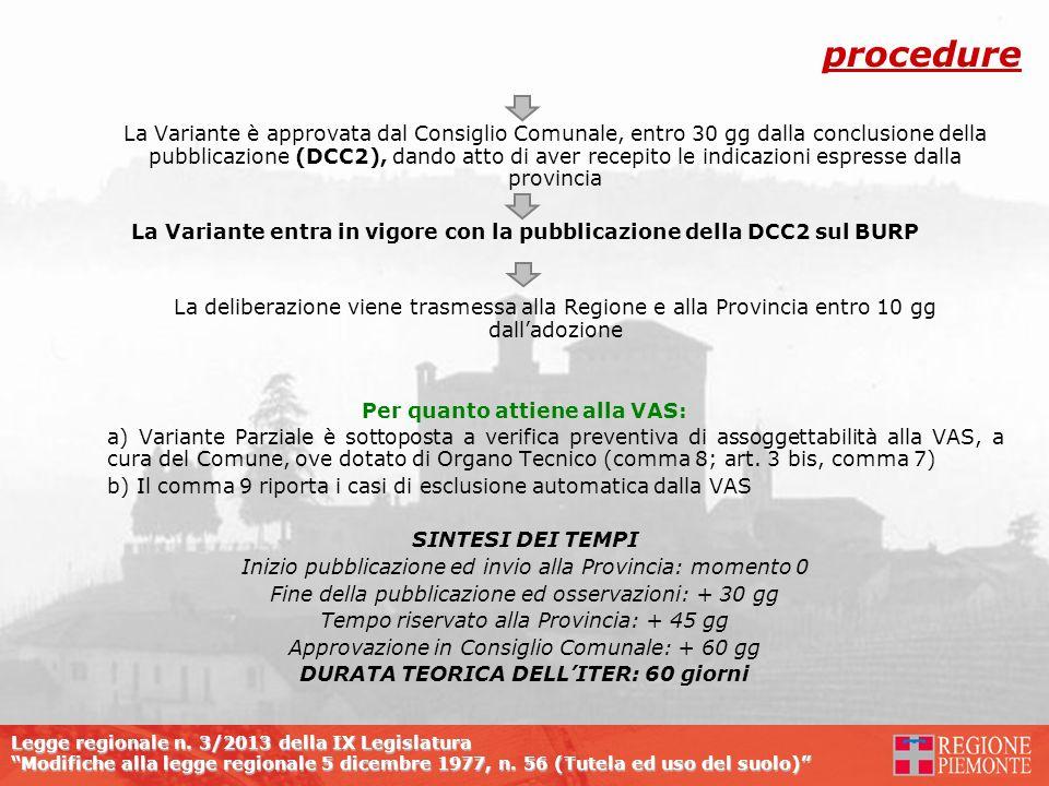 DURATA TEORICA DELL'ITER: 60 giorni