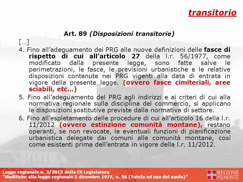 Art. 89 (Disposizioni transitorie)