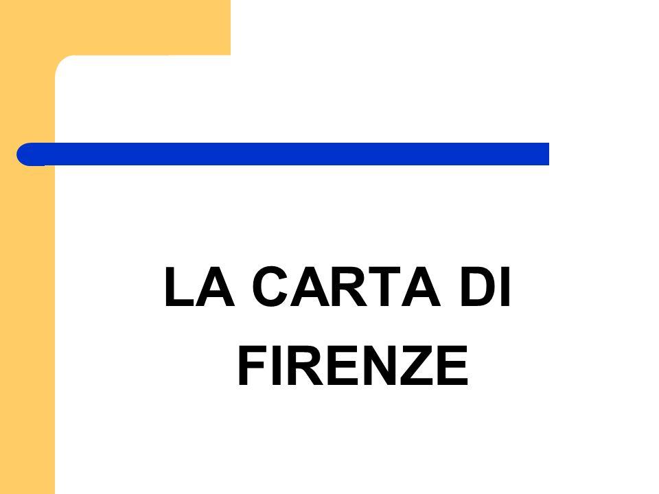LA CARTA DI FIRENZE