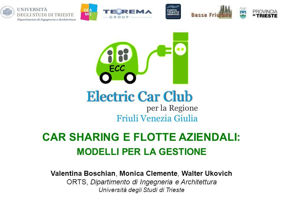 CAR SHARING E FLOTTE AZIENDALI: MODELLI PER LA GESTIONE