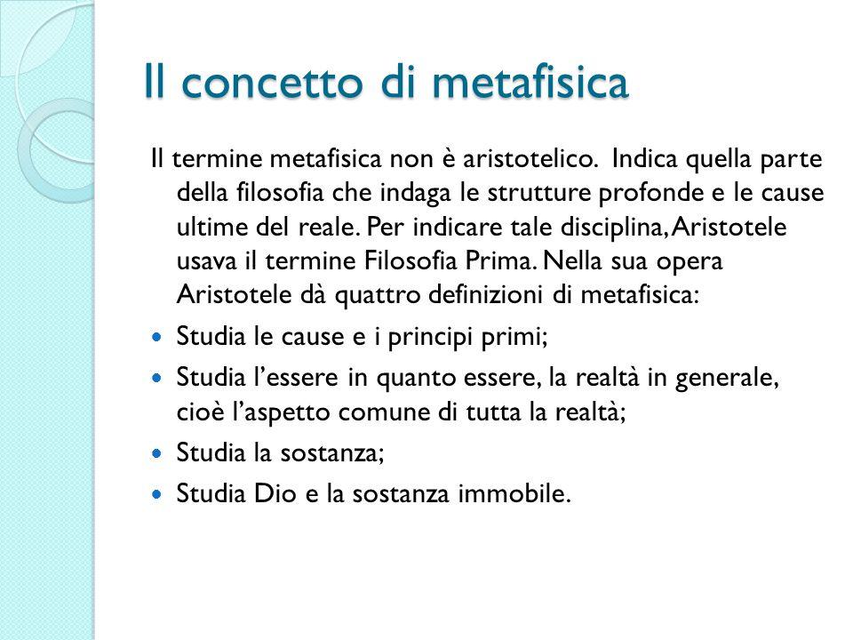 Il concetto di metafisica