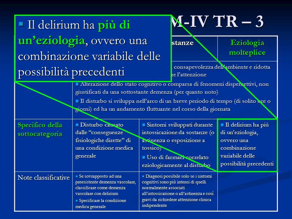 Il Delirium nel DSM-IV TR – 3