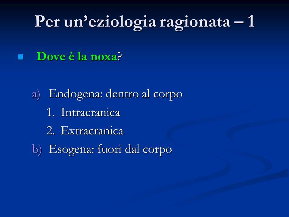 Per un'eziologia ragionata – 1