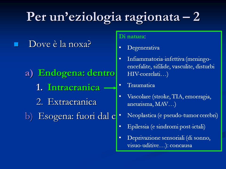 Per un'eziologia ragionata – 2