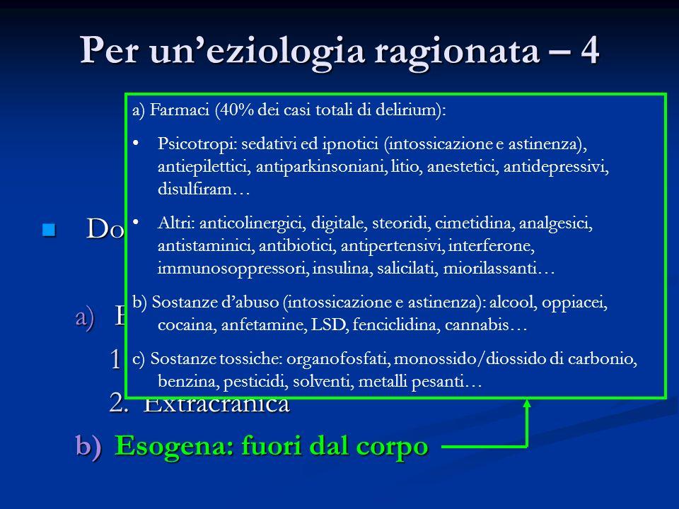 Per un'eziologia ragionata – 4