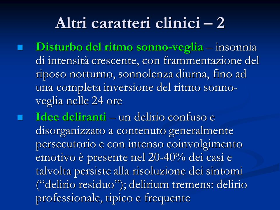 Altri caratteri clinici – 2