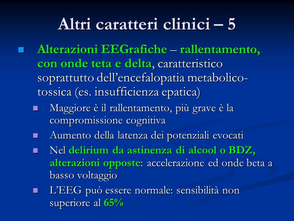 Altri caratteri clinici – 5