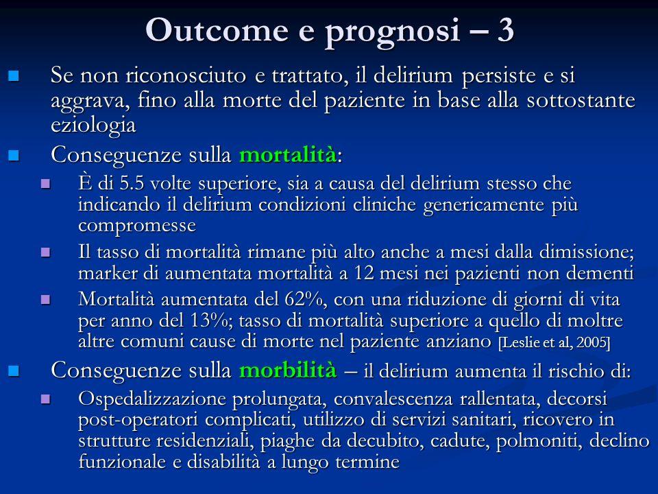 Outcome e prognosi – 3