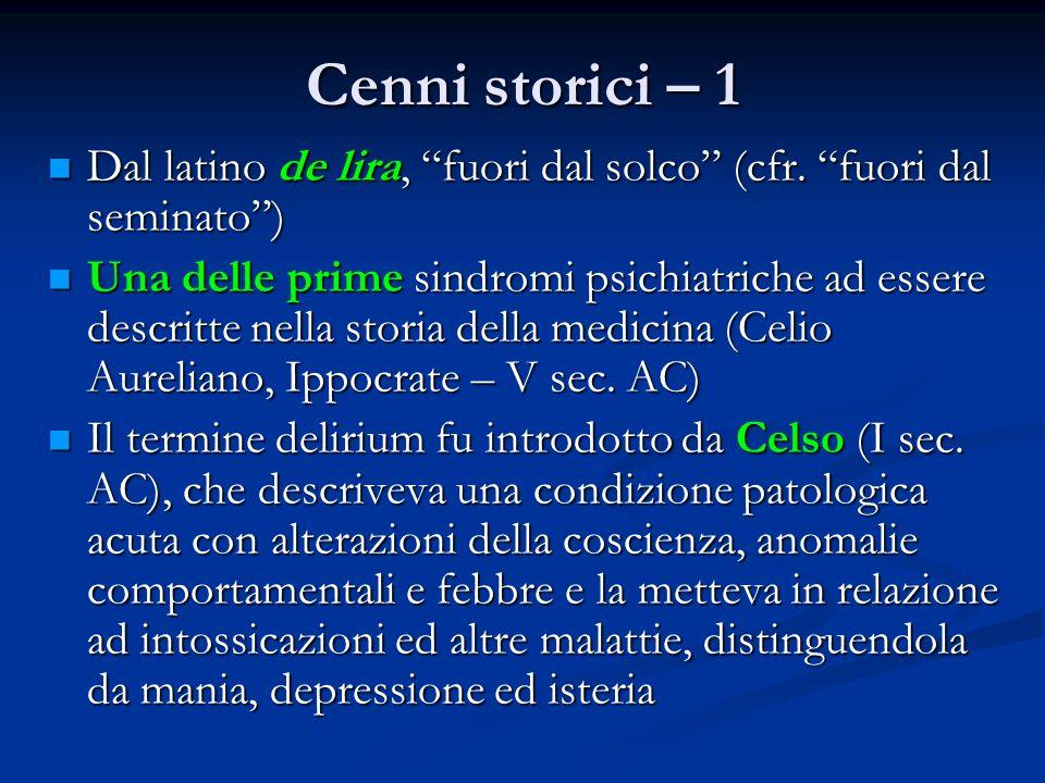 Cenni storici – 1 Dal latino de lira, fuori dal solco (cfr. fuori dal seminato )