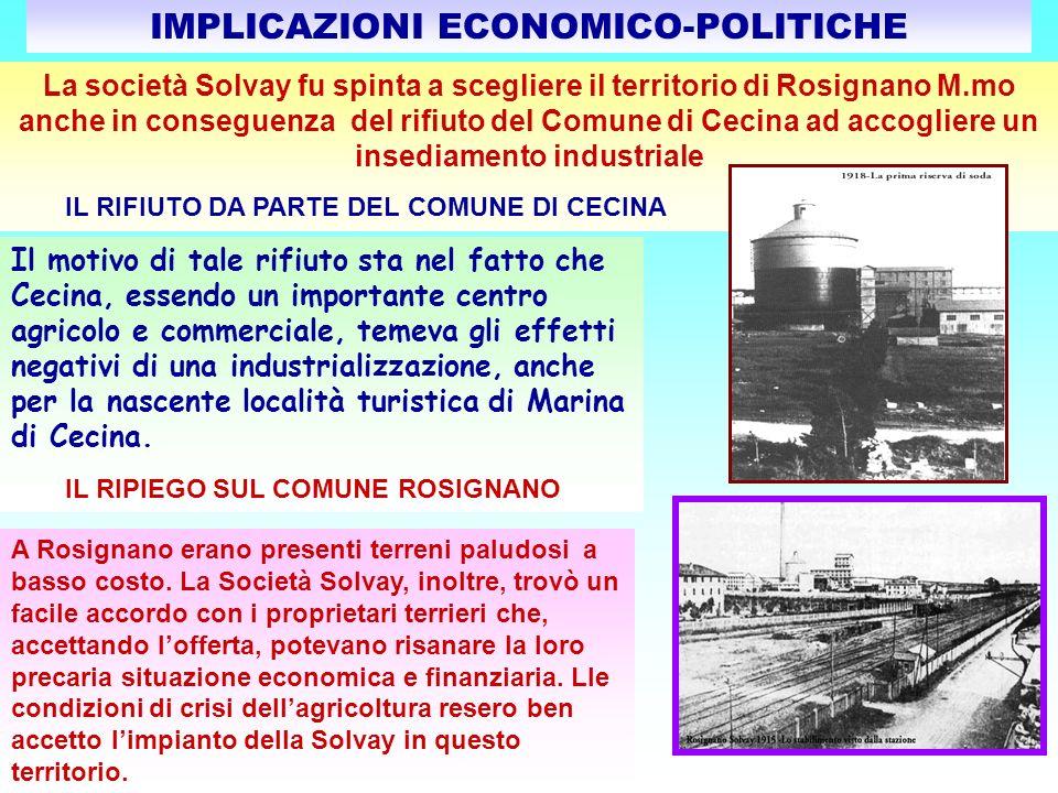 IMPLICAZIONI ECONOMICO-POLITICHE