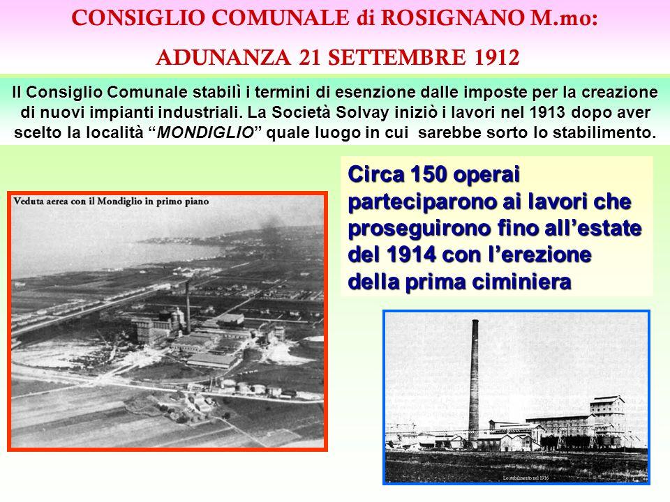 CONSIGLIO COMUNALE di ROSIGNANO M.mo: