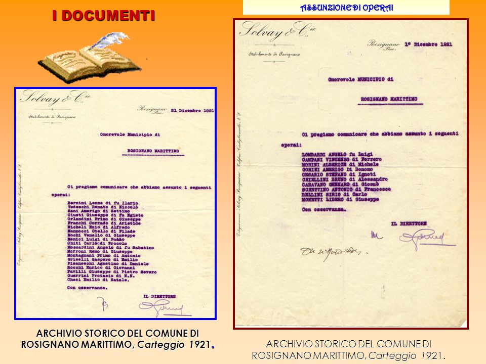 ARCHIVIO STORICO DEL COMUNE DI ROSIGNANO MARITTIMO, Carteggio 1921.
