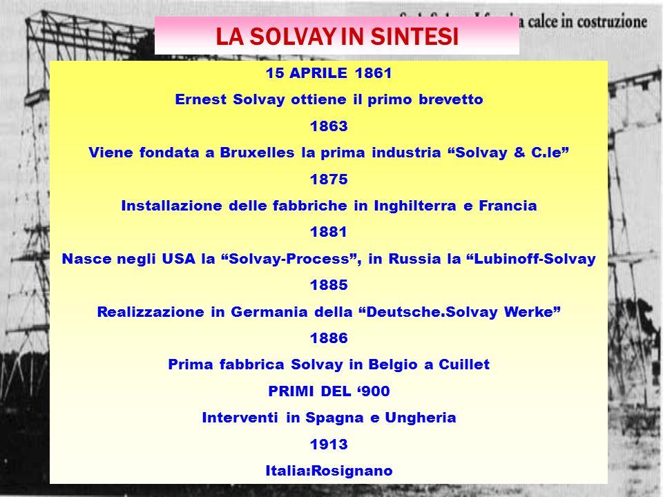 LA SOLVAY IN SINTESI 15 APRILE 1861