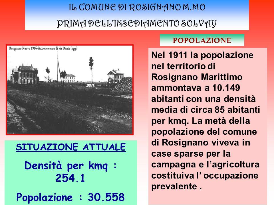 IL COMUNE DI ROSIGNANO M.MO PRIMA DELL'INSEDIAMENTO SOLVAY