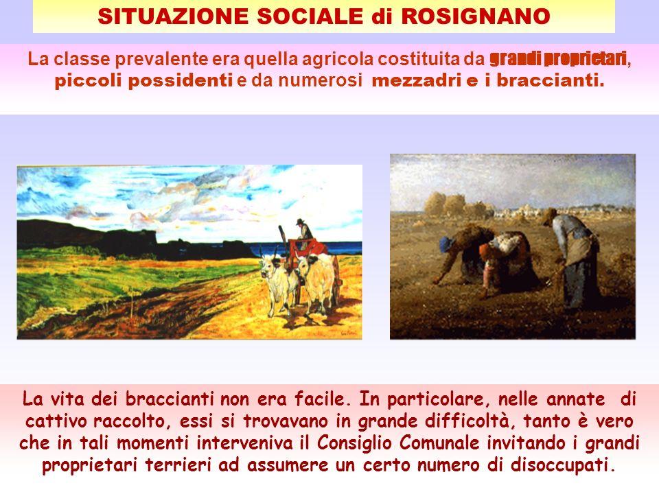 SITUAZIONE SOCIALE di ROSIGNANO