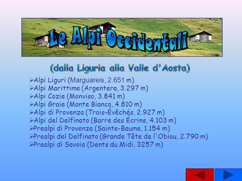 (dalla Liguria alla Valle d Aosta)