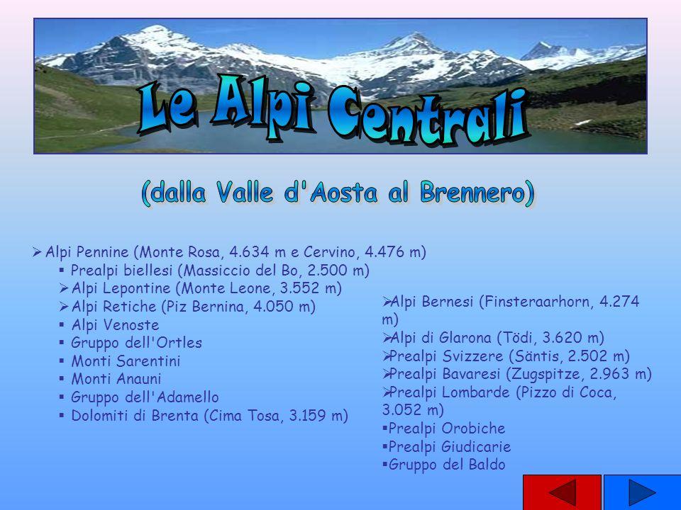 (dalla Valle d Aosta al Brennero)