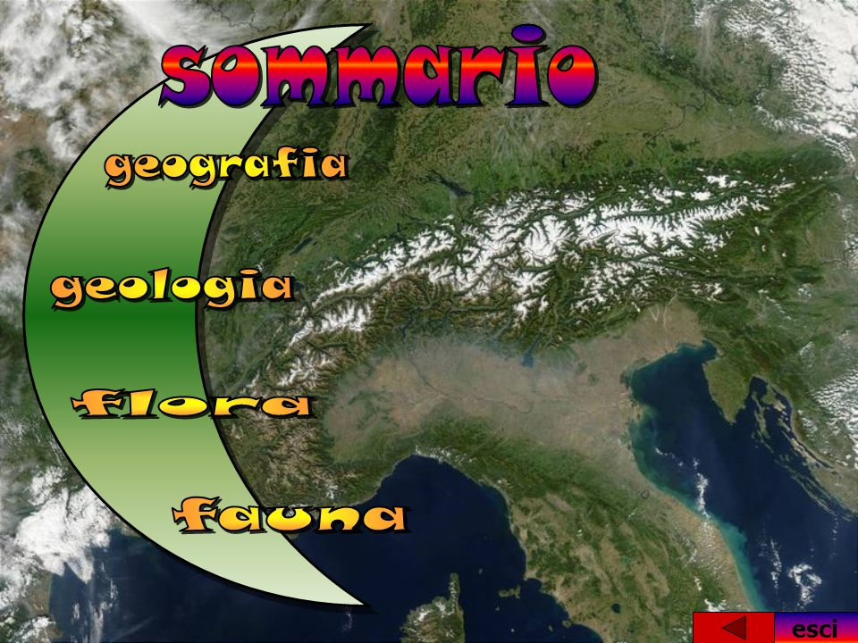 sommario geografia geologia flora fauna esci