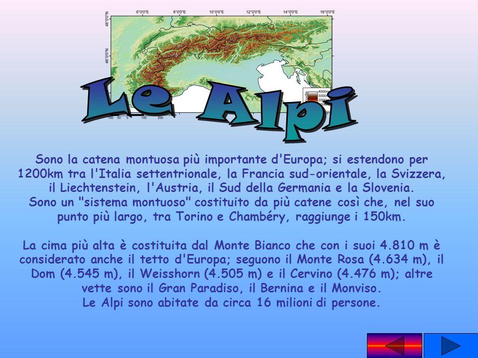 Le Alpi sono abitate da circa 16 milioni di persone.