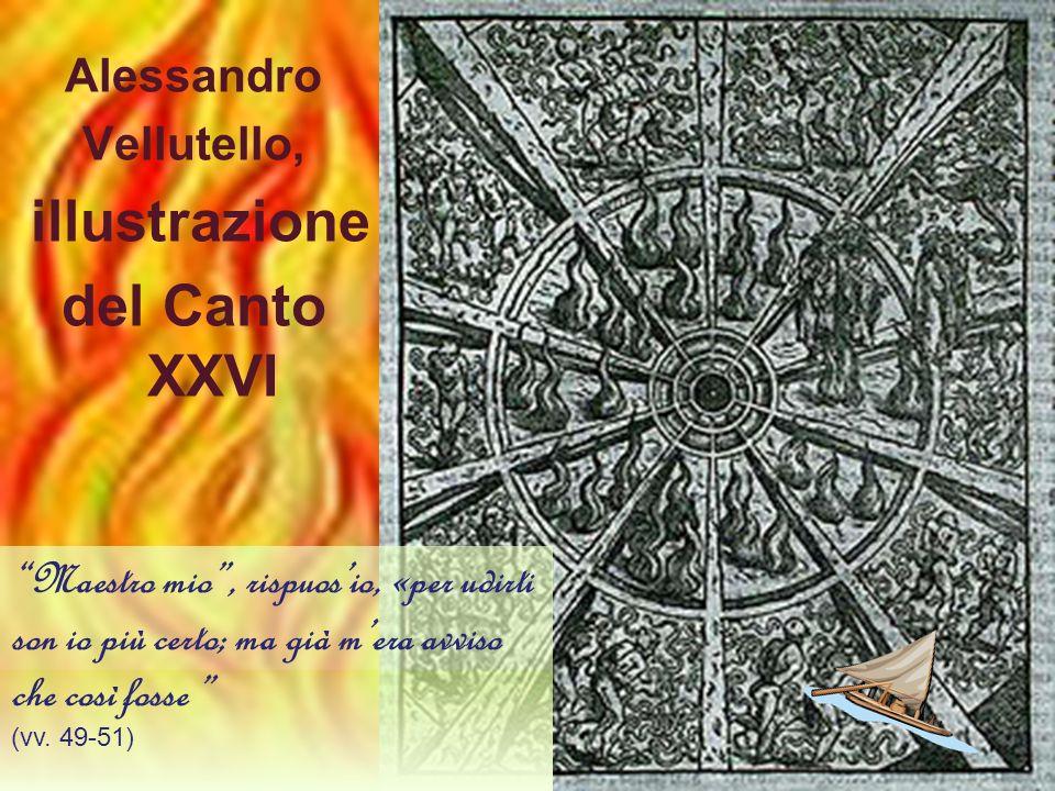 del Canto XXVI Alessandro Vellutello, illustrazione