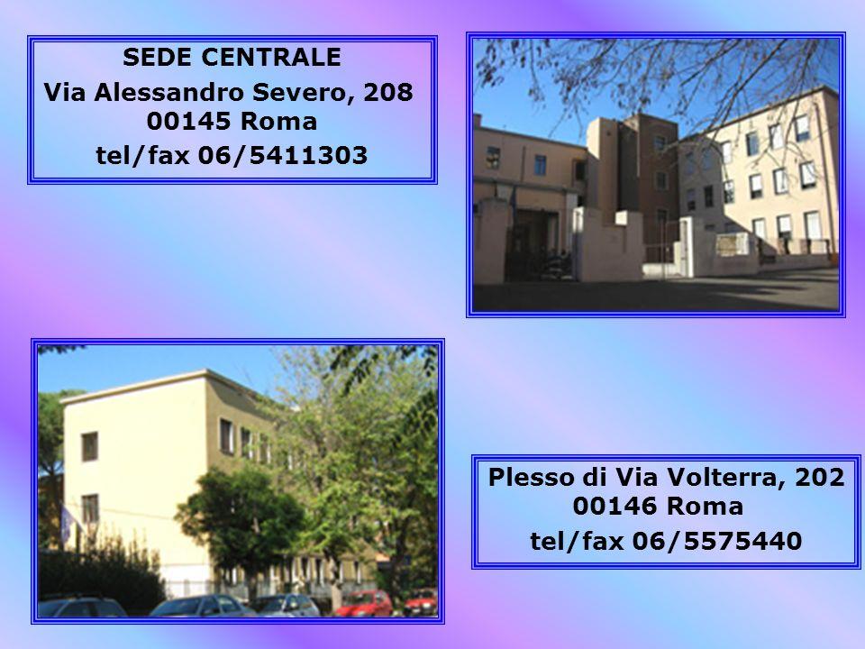Via Alessandro Severo, 208 00145 Roma tel/fax 06/5411303