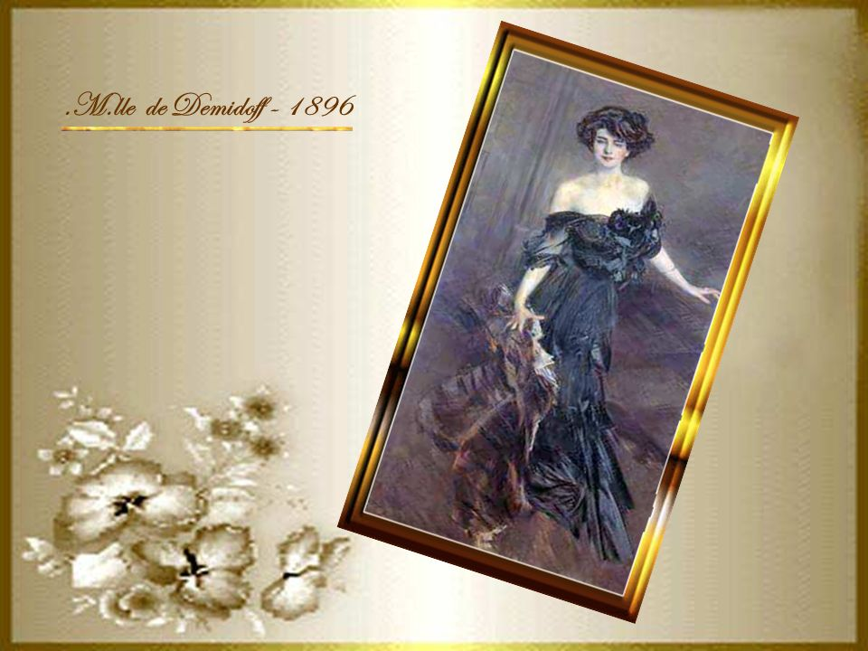 .M.lle de Demidoff - 1896
