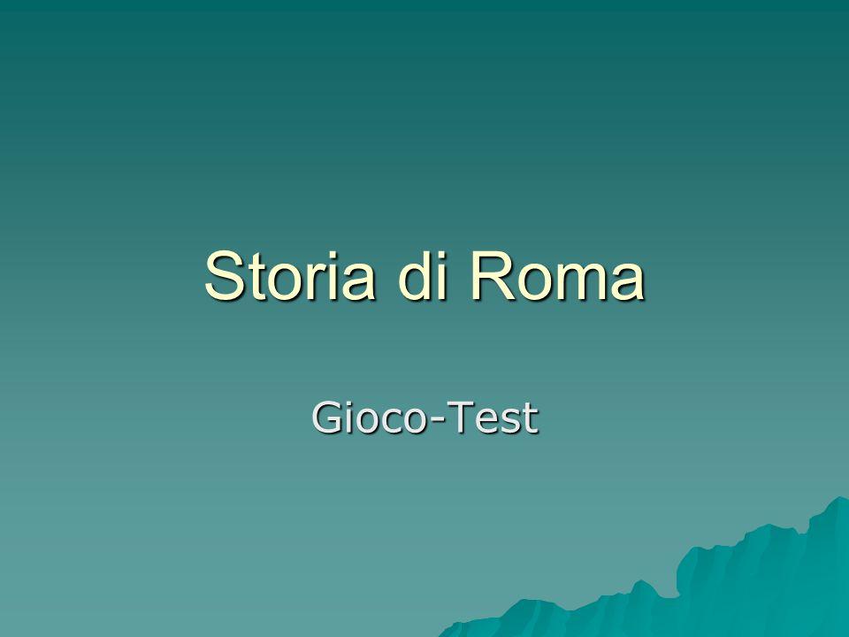 Storia di Roma Gioco-Test