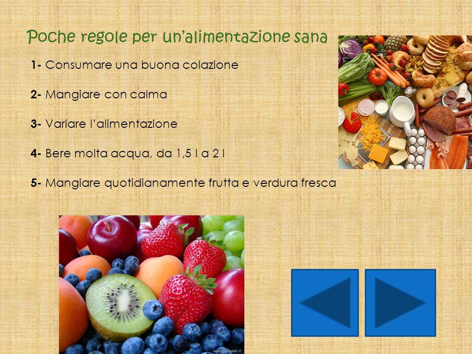 Poche regole per un'alimentazione sana