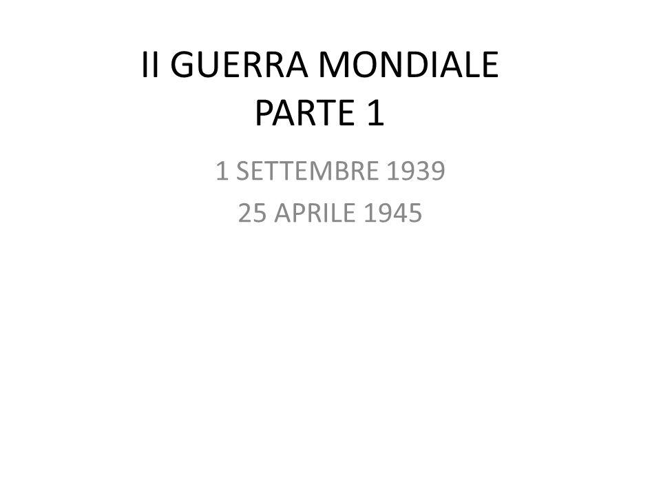 II GUERRA MONDIALE PARTE 1