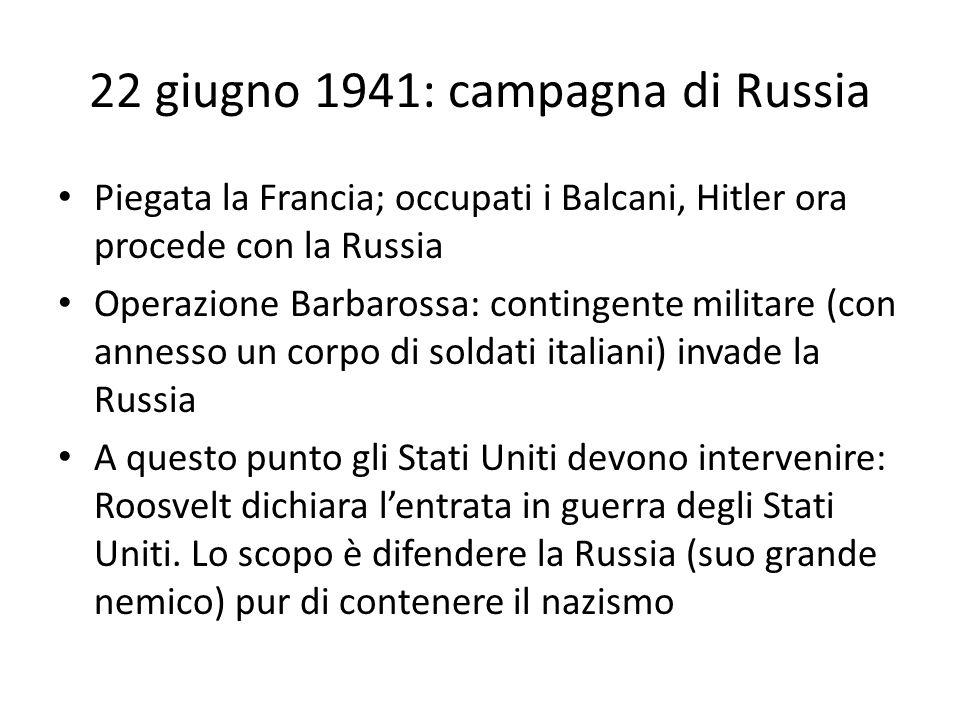 22 giugno 1941: campagna di Russia