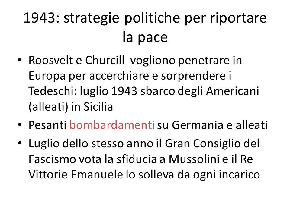 1943: strategie politiche per riportare la pace