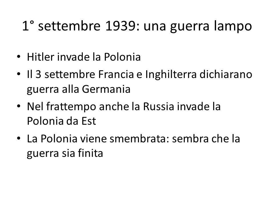 1° settembre 1939: una guerra lampo