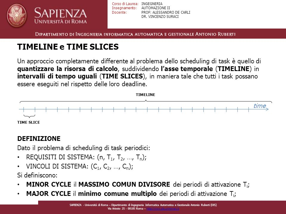 TIMELINE e TIME SLICES