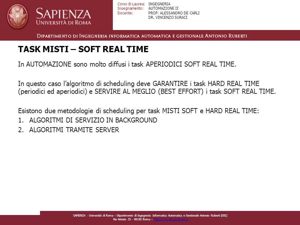 TASK MISTI – SOFT REAL TIME