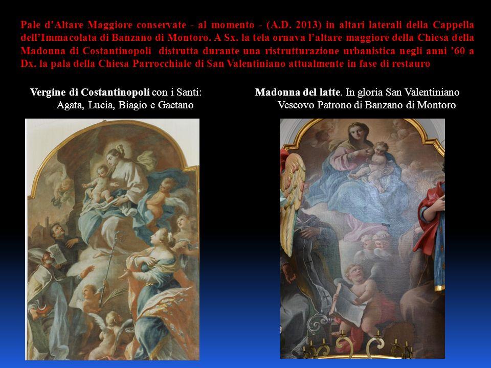 Vergine di Costantinopoli con i Santi: Agata, Lucia, Biagio e Gaetano