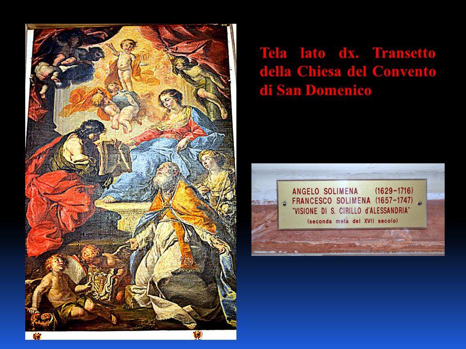 Tela lato dx. Transetto della Chiesa del Convento di San Domenico
