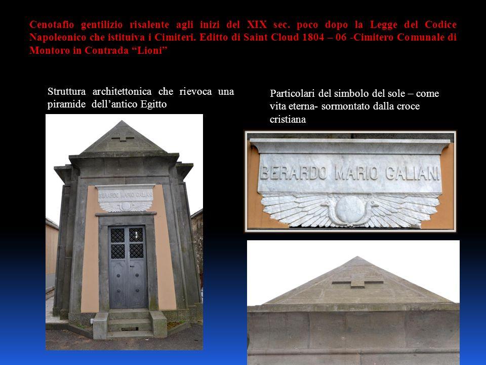 Cenotafio gentilizio risalente agli inizi del XIX sec