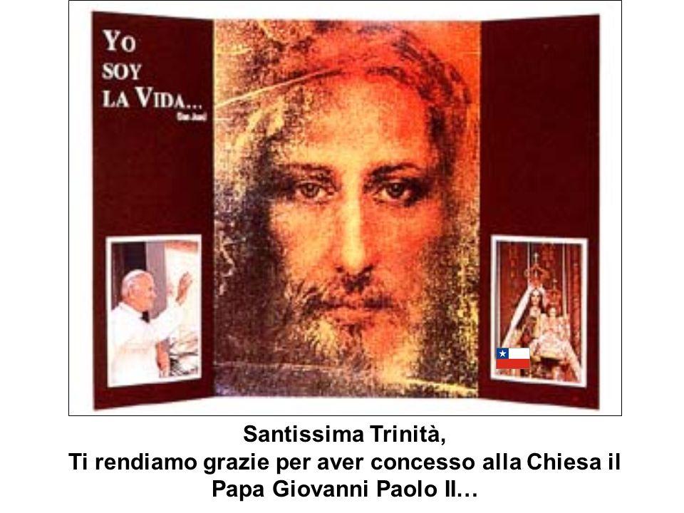 Santissima Trinità, Ti rendiamo grazie per aver concesso alla Chiesa il Papa Giovanni Paolo II…