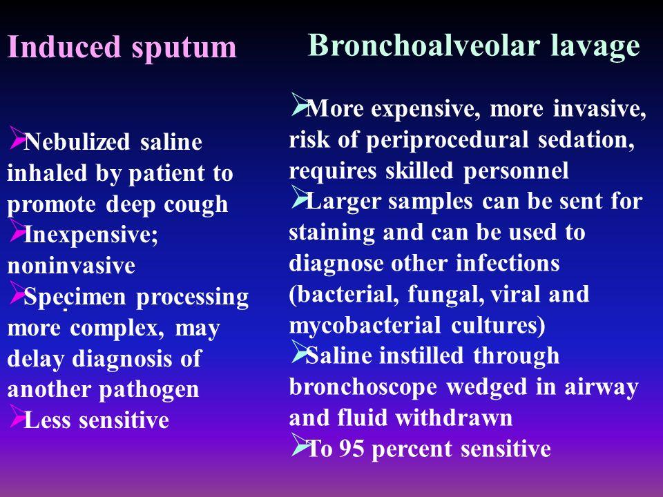 Bronchoalveolar lavage