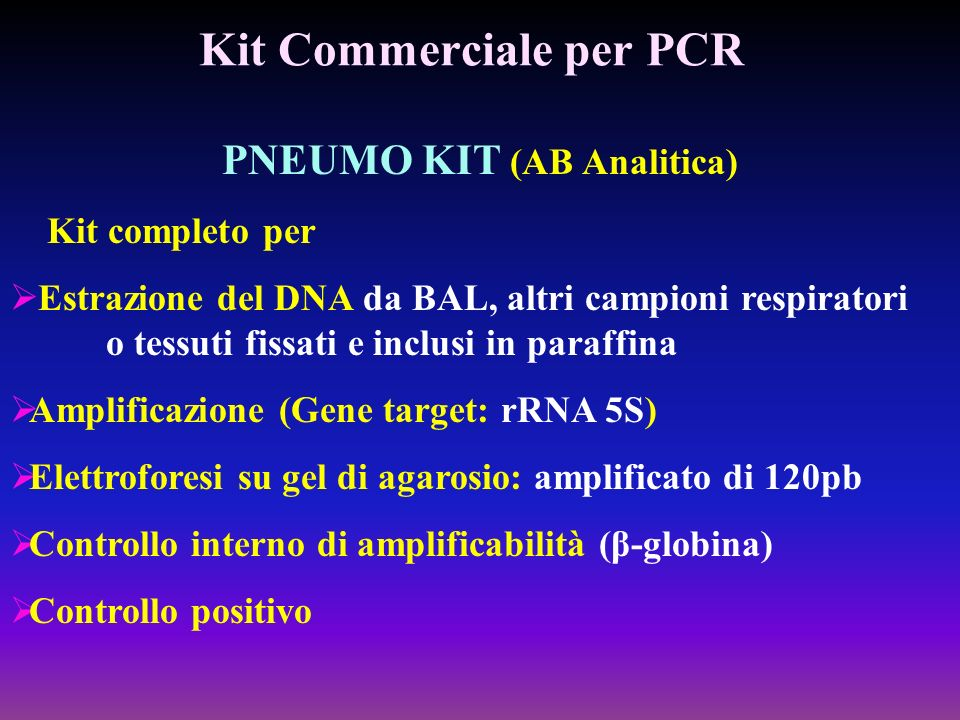 Kit Commerciale per PCR
