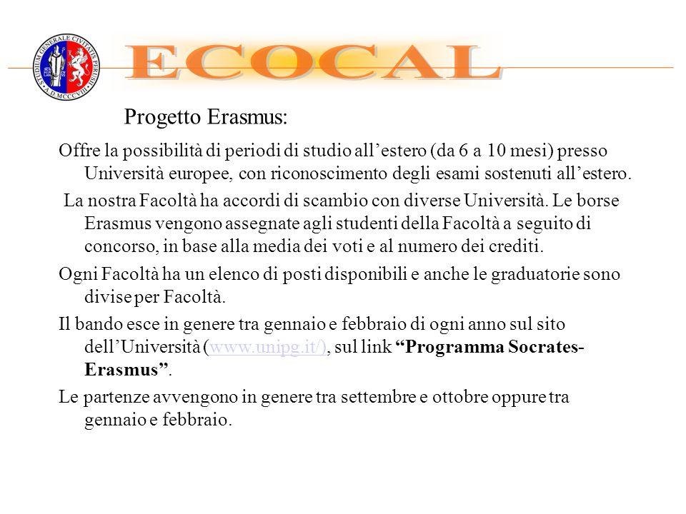 ECOCAL Progetto Erasmus: