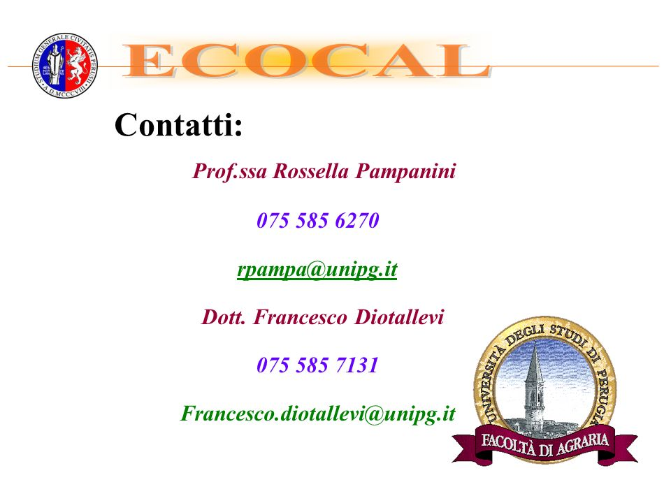 Prof.ssa Rossella Pampanini Dott. Francesco Diotallevi